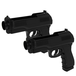 Wii Semi Auto Pistol Gun for Wii Set of 2 Remote New