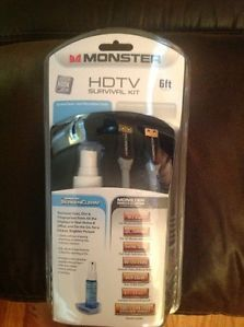 Monster HDMI Cable 6ft HDTV Survival Kit