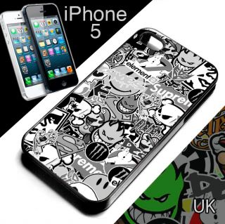 Stickerbomb iPhone 5 Cover Case Sticker Bomb Skate Street BMX Fixie