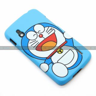 Doraemon Style Hard Case Cover for LG Google Nexus 4 Blue