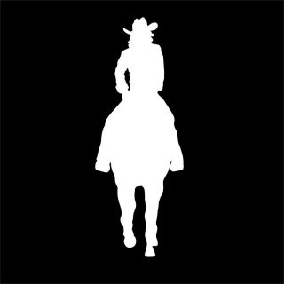 Horse Cowgirl Decal for Girl Tack Box or Ranch Farm Truck or Trailer