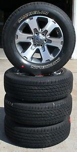 """18"""" 2010 2013 Ford F150 Pickup Factory Alloy Wheels with Michelin Tires Set of 4"""
