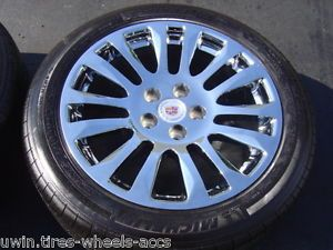 """18"""" Chrome Wheels Michelin Tires 2011 2013 Cadillac cts Staggered 235 50 265 45"""