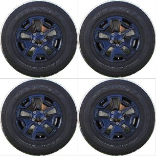 """Set of 5 17"""" 2013 Jeep Wrangler Factory Alloy Wheels with Goodyear Tires"""