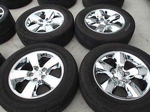 "20"" Dodge RAM 1500 Chrome Factory Wheels Goodyear Tires Rims 2450"
