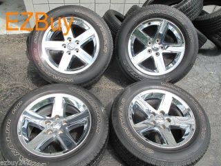 """20"""" Dodge RAM 1500 Factory Chrome Clad Wheels and 275 60 20 Goodyear Tires 2364"""