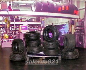 10 Wide Trac Goodyear Tires Miniature w Pallet 1 24 G Scale Garage Diorama