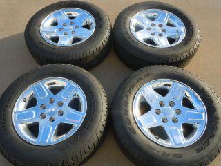 "Sierra 1500 Z 71 Yukon 18"" Factory Chrome Wheels Goodyear Tires P265 65R18"
