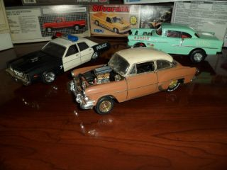 3 Built Models Hot Rods Pro Street Gasser Plymouth Chevy Junkyard Lot