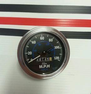 Vtg Sun Speedometer Blue Line Hot Rods Rat Rods GM Mopar Pontiac Oldsmobile Ford