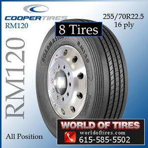 8 Tires Roadmaster RM120 255 70R225 Semi Truck Tires 255 70 22 5 255 70R22 5