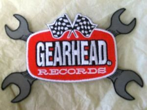 GearHead Records Wrench Logo Patch Checkered Flags Garage Punk Hot Rods Choppers