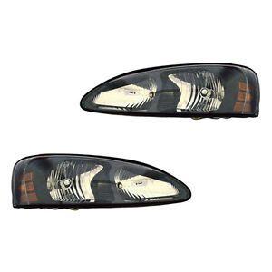 2004 2008 Pontiac Grand Prix Clear Head Light Lamp Headlight Assembly 1 Pair