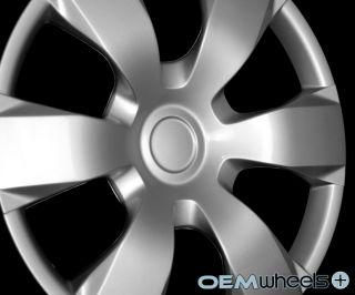 "4 New Silver 16"" Hub Caps Fits Hyundai SUV Car ABS Center Wheel Covers Set"
