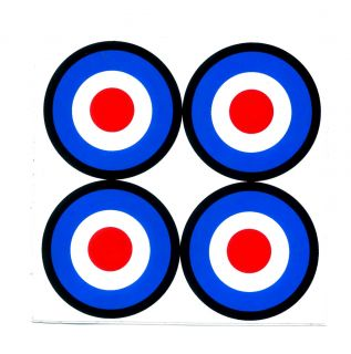 Vespa Mod Bulls Eye Target Scooter Motorcycle Car Van Truck Decals Sticker T103
