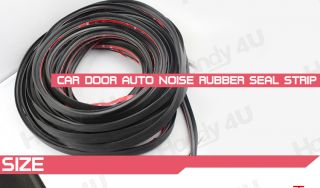 "120"" Car Door Rubber Edge Trim Molding Universal Seal Strip Free 3M Adhesive P"