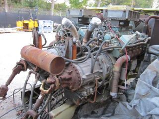 Twin Detroit Diesel 8V 71's with Allison HT740 Automatic Transmissions
