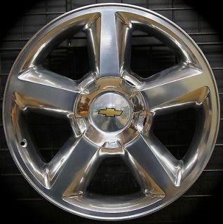 "New Chevy Silverado Tahoe Suburban Avalanche LTZ 20"" Polished Wheels Rims"