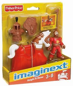 Imaginext Castle Red Good Knight and Horse Medieval Eagle Talon Action Figure