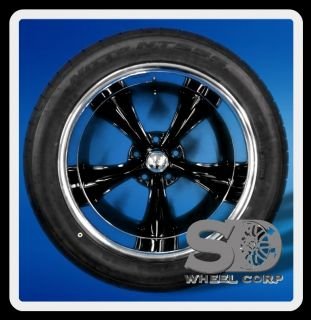 "Boss 338 18"" 5x4 75 Nitto NT555 245 45 18 275 40 18 Tires Rims Wheels Black"