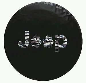 Jeep Spare Tire Cover Paw Print 35 inch Camouflage
