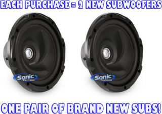 "2 Kenwood KFC W12 KFCW12 12"" Single 4 Ohm Performance Car Subwoofers Subs"