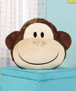 Monkey Animal Face Plush Pillow for Your Bed Bedroom Pet Home Accent Decor New