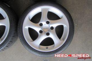 "18"" Factory Porsche 996 911 Carrera Turbo s 4S Wheels Rims Pirelli Tires"