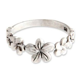 Novica The Ngurah Gede Sterling Silver Flower Ring