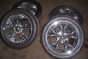 "FOOSE 17"" Legend Chrome Rims GM 5x7 75 Sumitomo Tires Staggered Hot Rod Street"