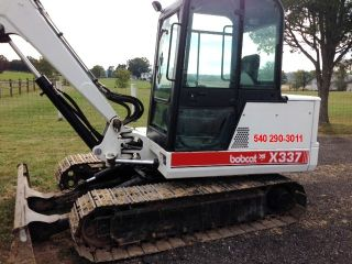 1998 Bobcat 337 Mini Excavator EXC Condition Kubota Diesel Metal Tracks