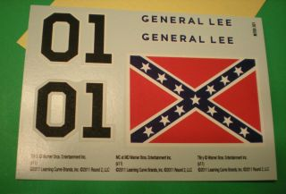 1969 Dodge Charger General Lee Decal Sheet 1 25 Rebel Flag 01 NASCAR Style Part