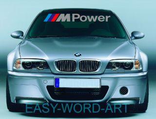 Silver BMW M Power Decal Windshield Sticker M3 M5 1M DTM s14 E30 E46 E92 E36 E39
