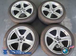 """Four 2013 Ford Mustang Factory 19"""" Hypersilver Wheels Tires Rims 3910"""