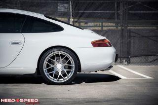 "20"" Ruger Black Concave Wheels Rims Fits Porsche 911 997 Carrera 4S Turbo Wide"