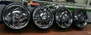 "30"" inch Dub Zig Zag Floaters Chrome Rims with 90 Thread Lexani Tires"