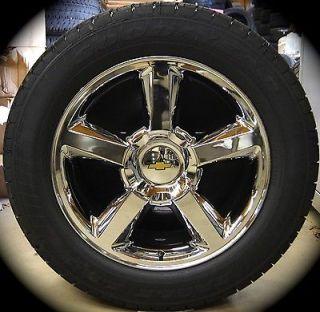 New Chevy Silverado Tahoe Suburban Avalanche LTZ Chrome 20 Wheels Rims Tires TPM