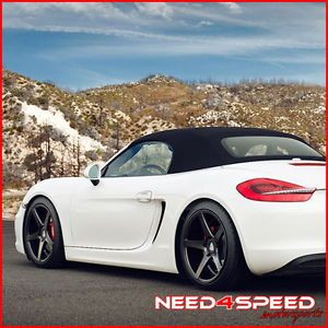 "19"" Porsche 981 Boxster s Spyder Avant Garde M550 Concave Silver Wheels Rims"