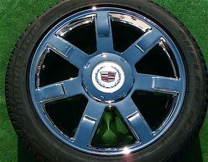 Set 4 Real Genuine GM Factory Cadillac Escalade Chrome 22 Wheels Tires TPMS