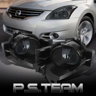 Smoked 2010 2012 Altima 4DR Sedan Bumper Fog Lights Lamps w Wiring Bulb Switch