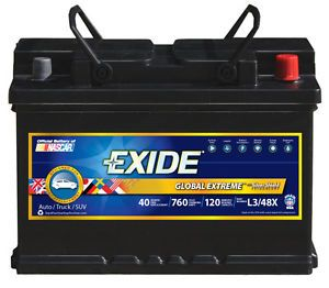 Exide Batteries New L3 48x Battery Std Automotive