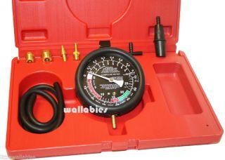 Carburetor Valve Fuel Pump Pressure Vacuum Tester Gauge Test Kit Car Truck