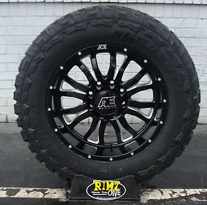 "20"" Eagle Alloy 511 Black Wheels 20x10 35x12 50R20 Federal MT Mud Tires 35"" Tire"