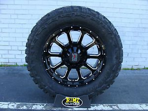 "18"" XD 806 Bomb Black Milled Wheels Rims 35x12 50R18 35"" Mud Tires Federal MT"