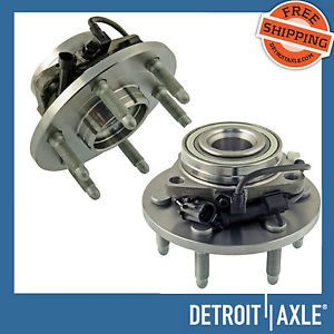 2 Front Wheel Hub Bearing 6 Lug 4WD 4x4 AWD Chevy GMC Trucks Pair Set