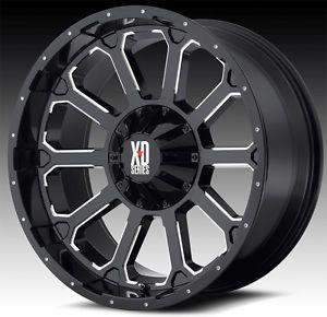 "20"" x 9"" KMC XD806 Bomb Rims w 37x13 50x20 Toyo Open Country MT Tires Wheels"