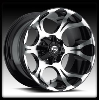 "20"" Fuel Dune Black Machined Rims 37x13 50x20 Toyo Open Country MT Tires Wheel"