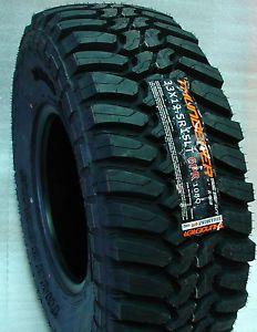 4 New 33x12 5R15LT Thunderer Mud Tires 33 12 5 15 Load Range C 6 Ply M T