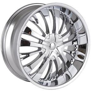 "22"" Chrome Fits Dodge Ford GMC Hummer Lincoln Tyfun TF705 Wheel"