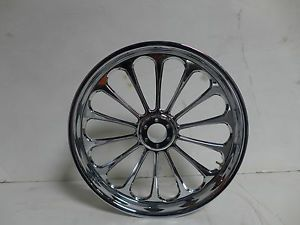 "Arlen Ness Spoken 21"" x 3 5"" Front Billet Wheel Chrome Victory 6 Hole"